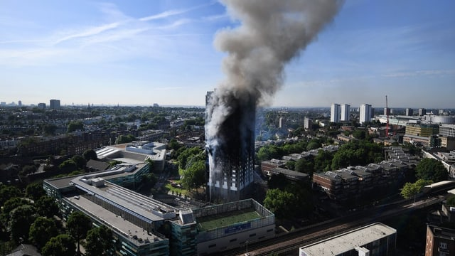 Il Grenfell Tower en il quartier da North Kensington a Londra.