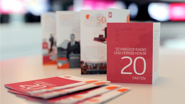 SRF-Faltblatt «SRF in 20 Fakten»