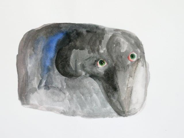 Weiche, rechteckige, graue Form, darin ein Elefantenkopf zu erkennen.