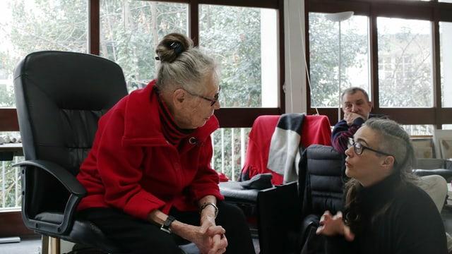 Vera Molnár im Gespräch mit MuDA-Macherin Caroline Hirt