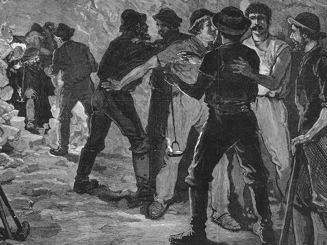 Durchstich Gotthard 29. Februar 1880