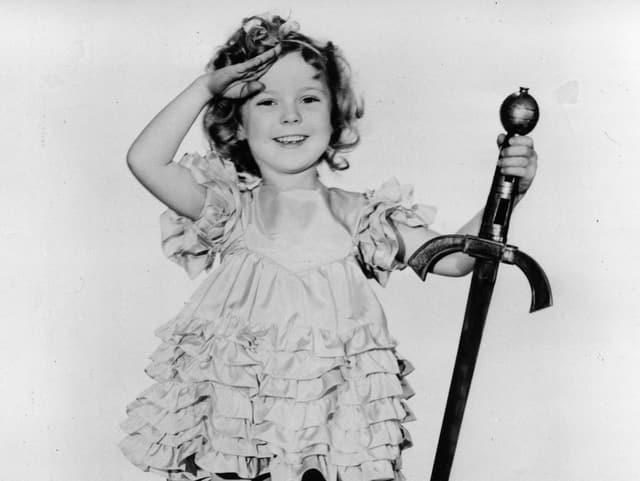 Shirley Temple 1933 in ihrem bereits zehnten Film «Little Miss Marker».