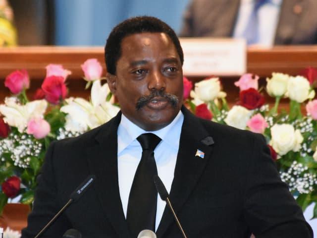 Joseph Kabila im April 2017 im Präsidentenpalast