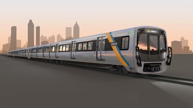 Visualisierung der Metro-Züge von Atlanta.