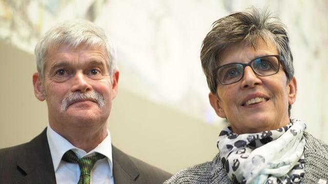Franz Rüegg e Martha Widmer-Spreiter.