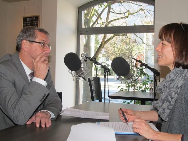 Regierungsrat Robert Marti im Interview mit dem Regionaljournal Ostschweiz.