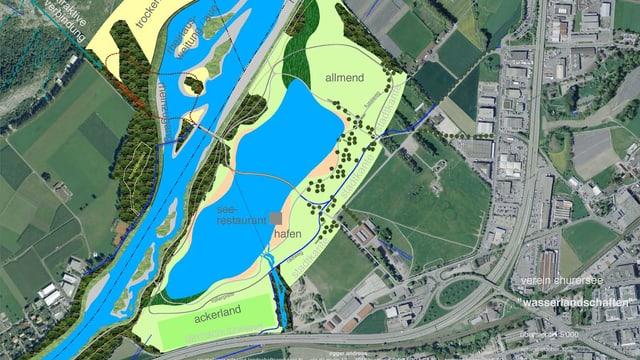 Visualisaziun d'in lai al Rossboden a Cuira.