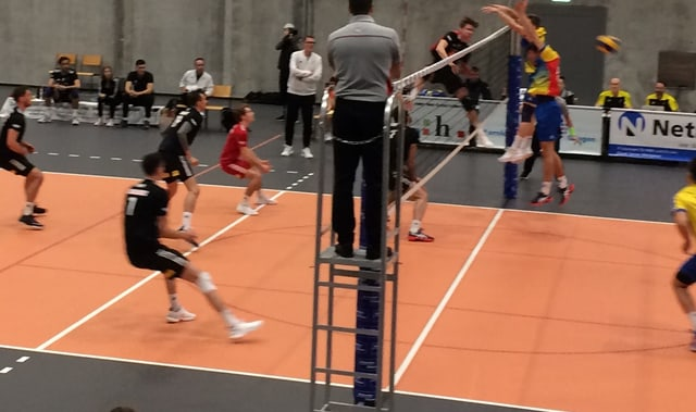 Ein Volleyball-Match