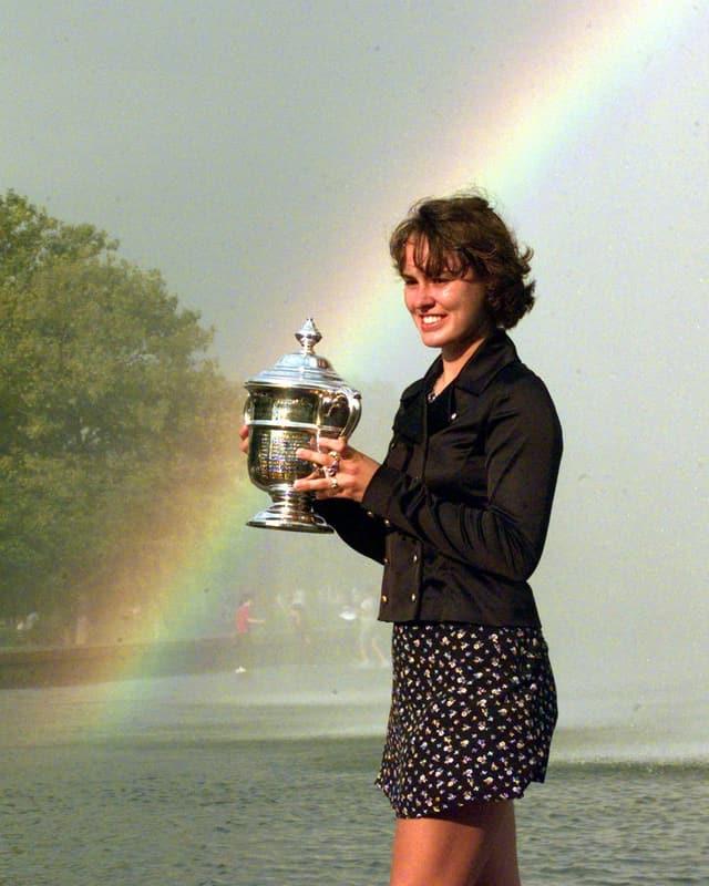 Martina Hingis ist nach wie vor ehrgeizig und kämpft in New York um den Titel im Doppel.
