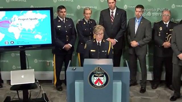 Medienkonferenz der Polizei von Toronto
