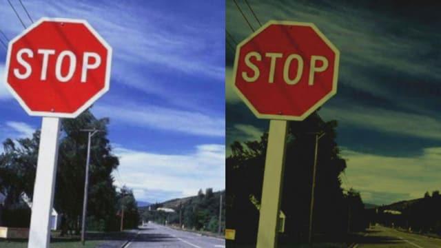 Stoppschilder.