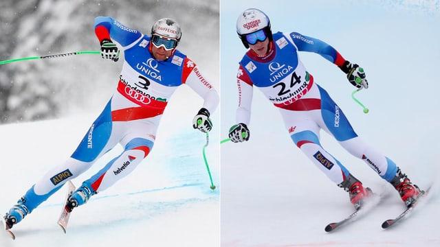 Silvan Zurbriggen und Carlo Janka