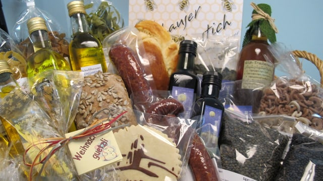 Warenkorb mit lokalen Produkten