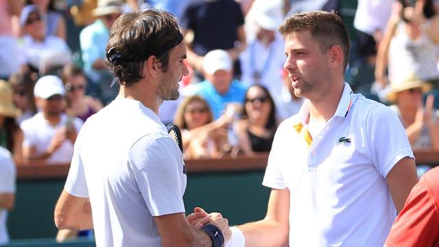 Roger Federer (san.), ha battì il Serb Filip Krajinovic.