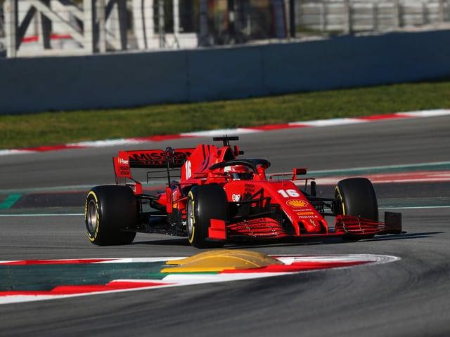 Ein Ferrari-Bolide.