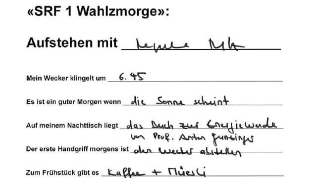 Die Handschrift von Regula Rytz.