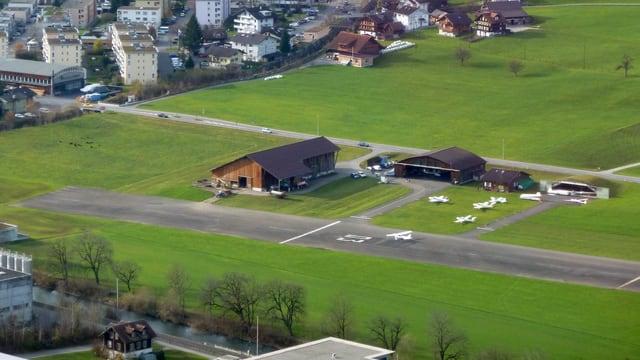 Ansicht des Flugplatzes Kägiswil.