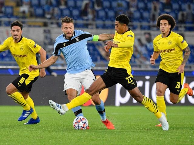 im Spitzenkampf der Gruppe F zwischen Dortmund und Lazio.