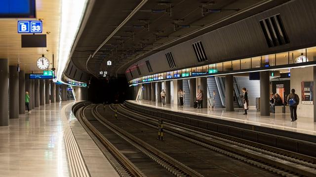 unterirdischer Bahnhof
