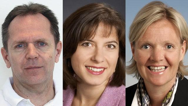 Dr. Peter Fehr, Prof. Anita Rauch und Dr. Sabine Steinmann