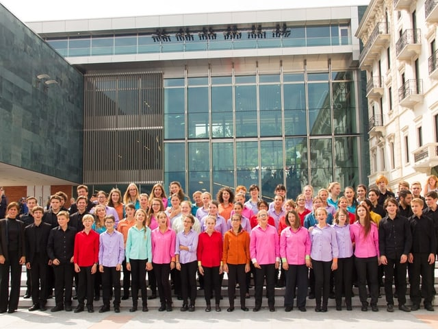 Mitglieder des Coro Clairière aus Lugano.