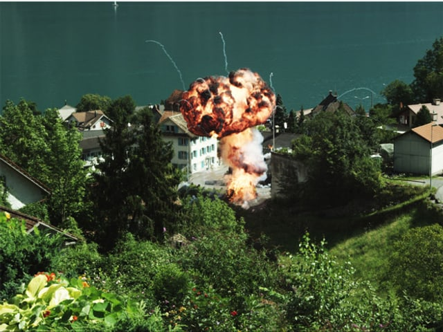 Explosion in Dorf am Walensee.