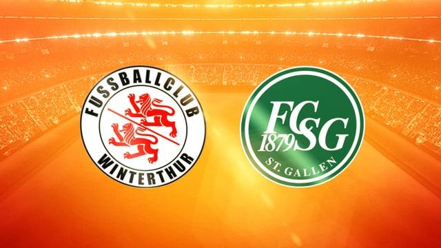 Logos von FC St. Gallen und FC Winterthur