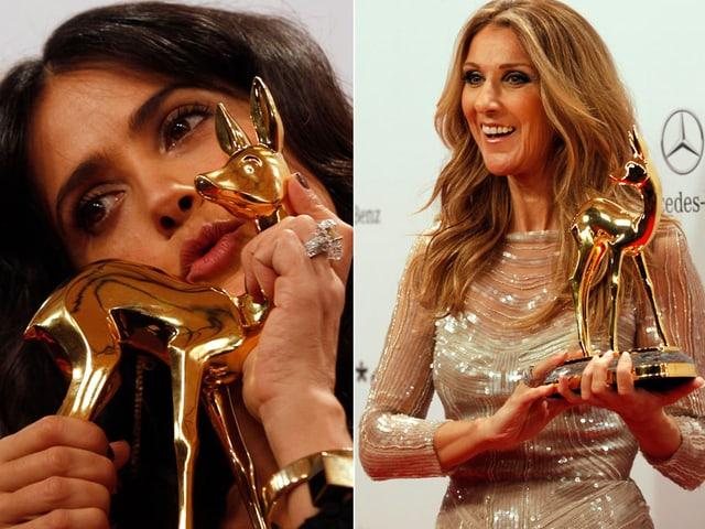 Salma Hayek und Céline Dion