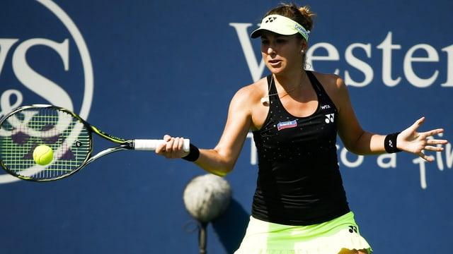 Belinda Bencic feierte in Cincinnati ihren 8. Sieg in Folge.