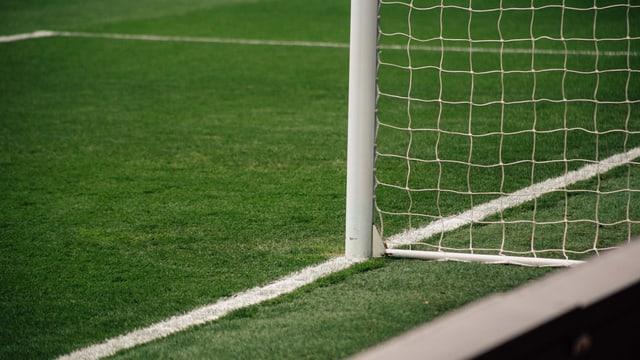 Symbolbild: Fussballtor auf grünem Rasen