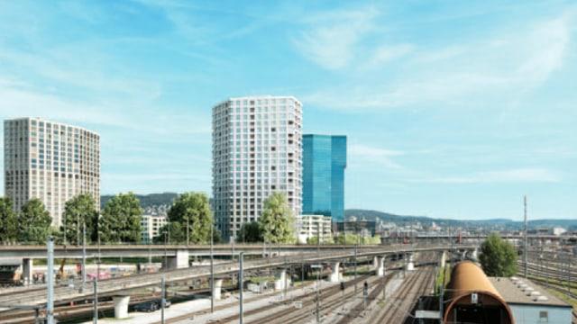 Fotomontage mit Zölly Tower