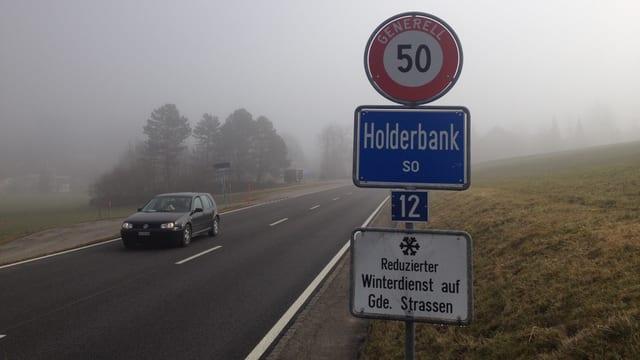 Ortsschild Holderbank SO.