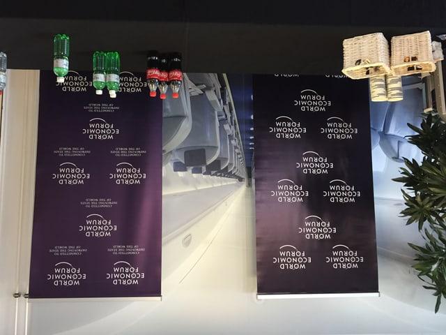 Mit Kaffee und Kühlgetränken fängt das WEF schon in Altenrhein an.