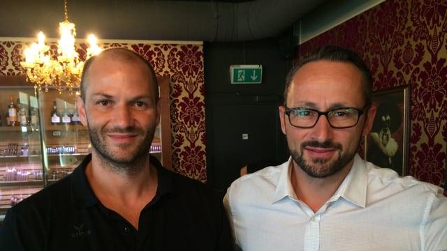 Trainer Heiko Grimm (links) und Geschäftsführer Nik Christen wollen den HC Kriens-Luzern an der Spitze etablieren.