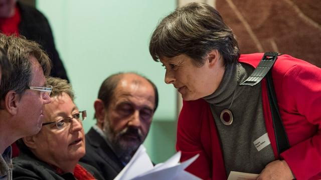 Nationalrätin Margret Kiener Nellen an der DV der SP Kanton Bern