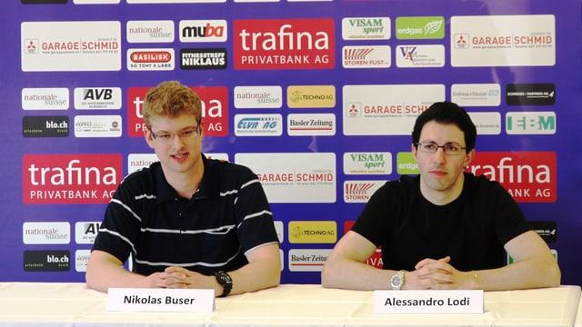 Die zwei neuen Trainer an der Medienkonferenz