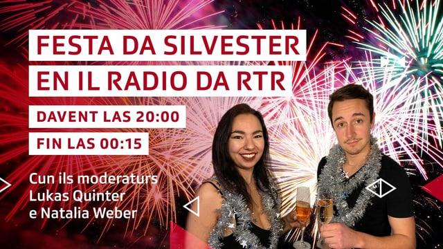 Visual da l'emissiun da Silvester cun Natalia Weber e Lukas Quinter