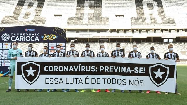 Protestbanner Botafogo-Spieler