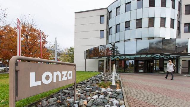 Das Direktionsgebäude der Lonza in Visp.