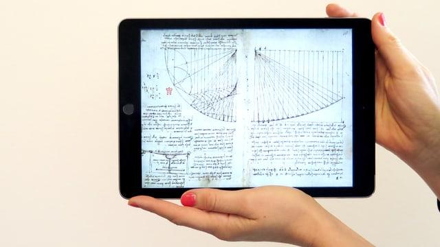 Da Vincis Skizze eines Spiegels.