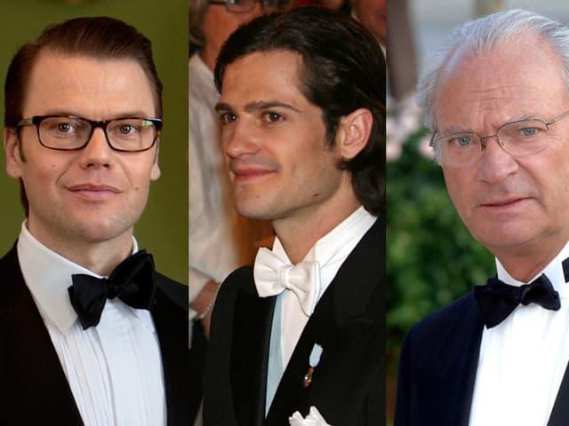 Daniel Westling, Prinz Carl Philip und König Carl Gustaf.