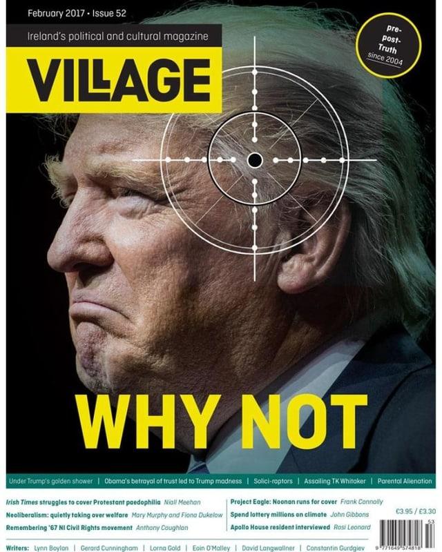 Titelseite des Kultur-und Politmagazins «Village»