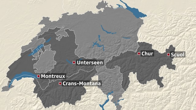 Schweizer Karte.