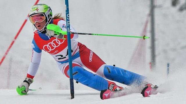 Carole Bissig am Europacup-Slalom in Bad Wiessee, Deutschland.
