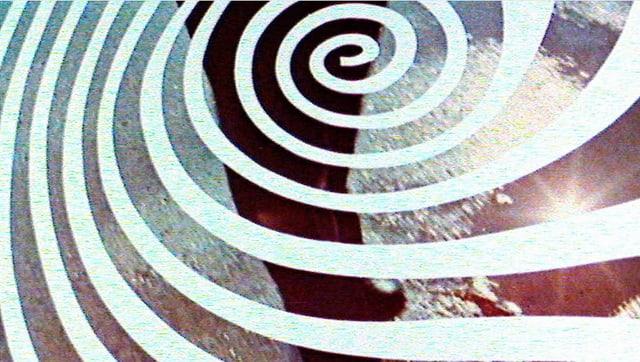 Ausschnitt aus der Titelgrafik des Tatort: Ein weisser Fingerabdruck, dahinter die Beine eines rennenden Mannes.