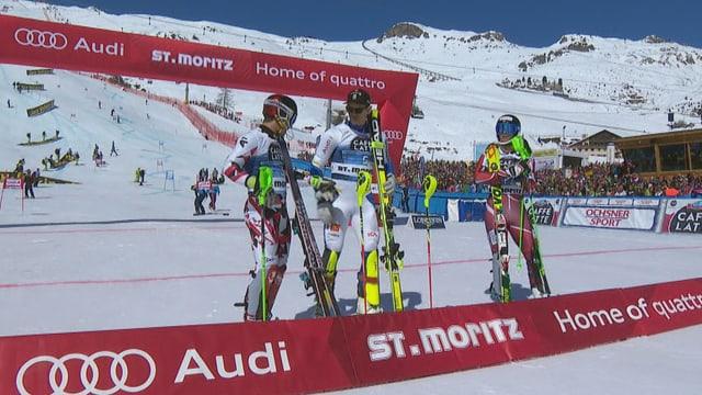 Myhrer gewinnt den Slalom von St. Moritz vor Hirscher und Foss-Solevaag.