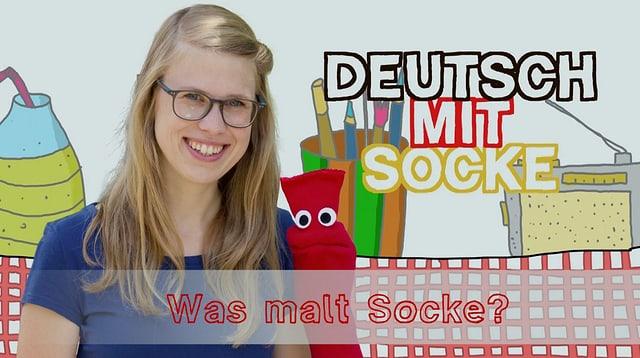 Video «Deutsch mit Socke: Was malt Socke? (28/35)» abspielen