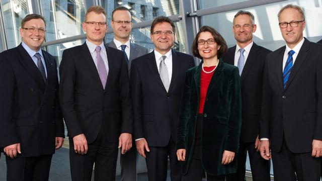 Gruppenbild der Zuger Regierung.