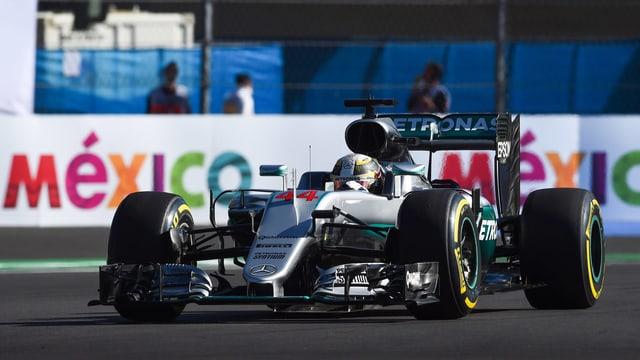 Lewis Hamilton in Mexiko.