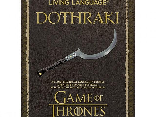 Das Wörterbuch für die fiktive Sprache Dothraki.